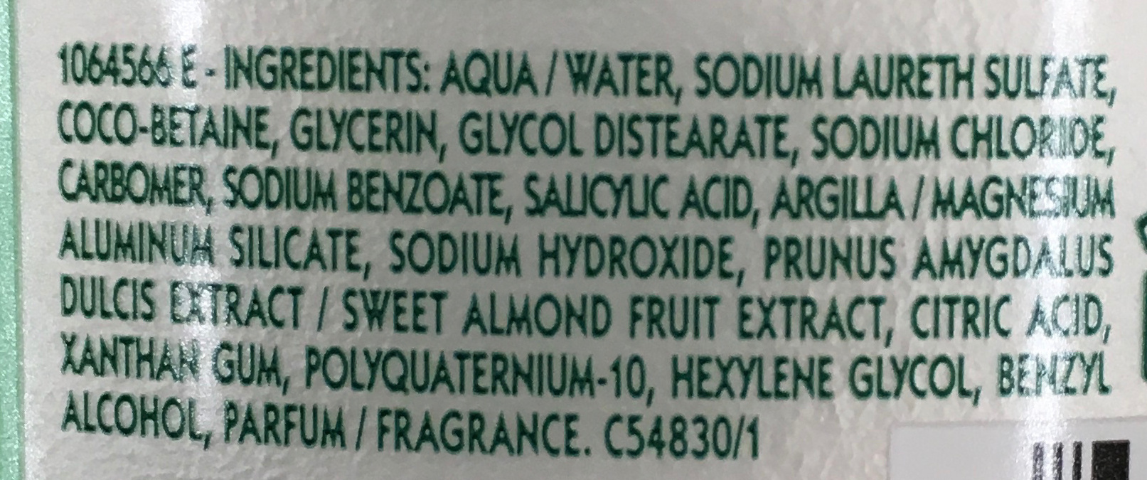Shampooing très doux 2 en 1 à l'amande douce - Ingrédients - fr