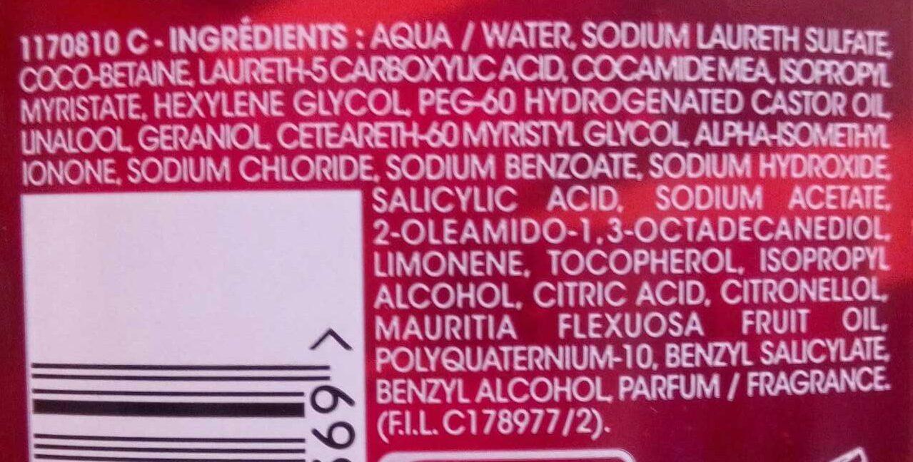 Shampooing gel réparateur Sublime Restructure - Ingredients