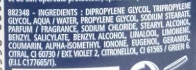 Déodorant Marine 24h - Ingredients