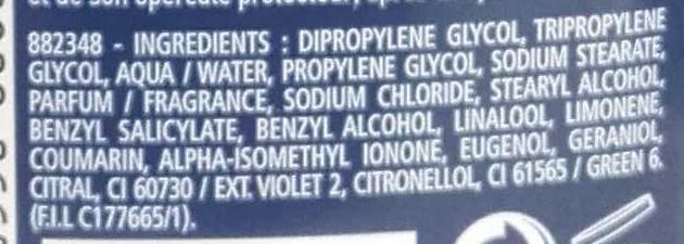 Déodorant Marine 24h - Ingrédients