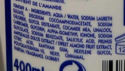 Shampooing très doux au lait végétal - Ingredients - fr