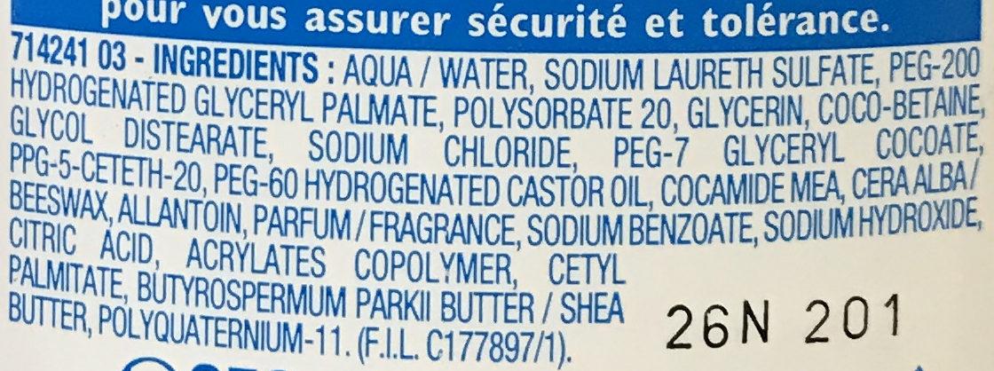 Bain de confort lavant Cold Cream - Ingredients
