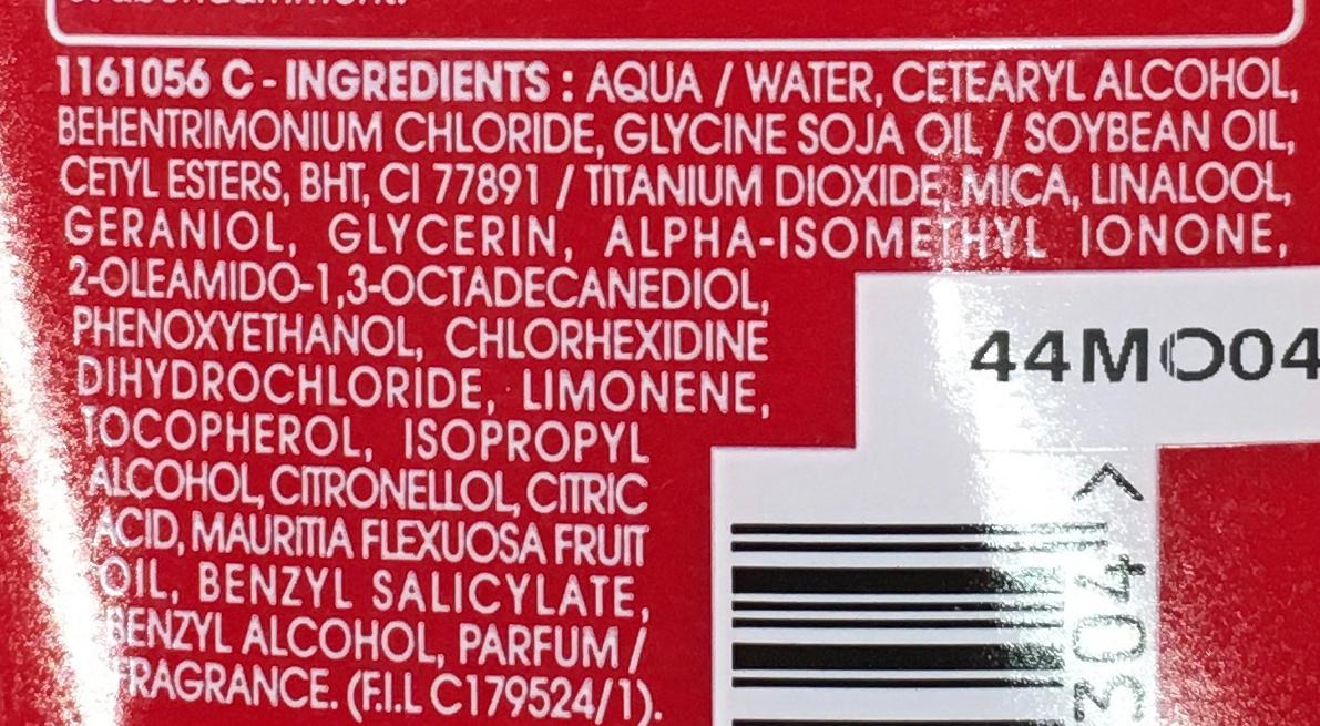 Après-shampooing réparateur Sublime Restructure - Ingredients - fr