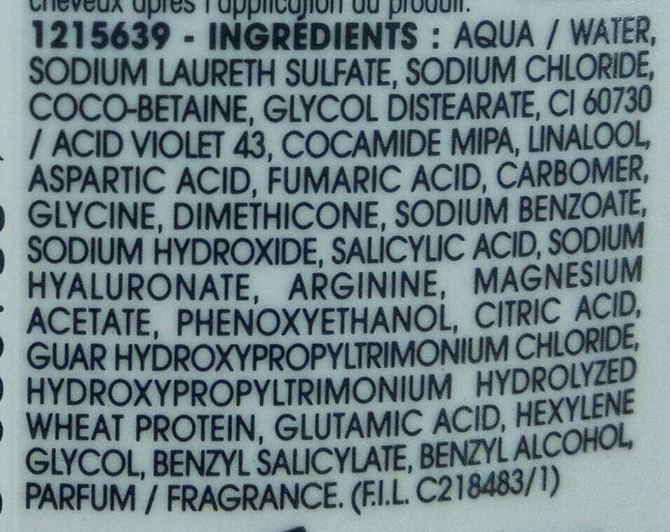 Shampooing déjaunisseur Âge Sublime Blanc Chic - Ingredients