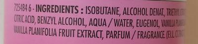 Déodorant efficacité 24h à l'extrait d'orchidée exaltante du Mexique - Ingrédients