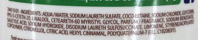 Douche Crème Douceurs du Matin au parfum de Pamplemousse pressé - Ingredients