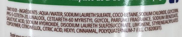 Douche Crème Douceurs du Matin au parfum de Pamplemousse pressé - Ingrédients