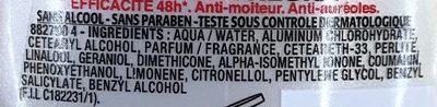 Dry Resist 48H Homme - Ingrédients