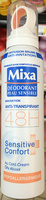Déodorant peau sensible innovation anti-transpirant 48H Sensitive Confort Hypoallergénique - Product
