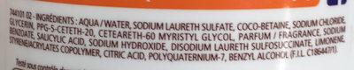 Douche Crème Douceurs d'Enfance au parfum des Orangettes - Ingredients