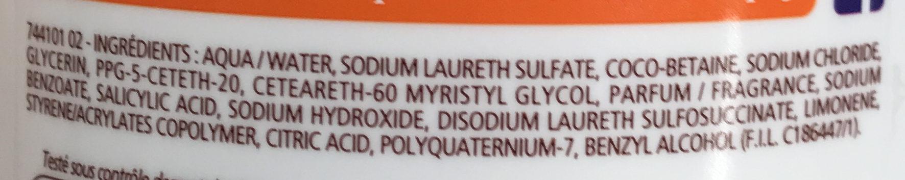 Douche Crème Douceurs d'Enfance au parfum des Orangettes - Ingrédients