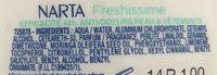 Déodorant bille freshissime - Ingrédients