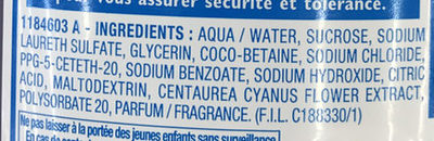 Shampooing très apaisant - Ingredients