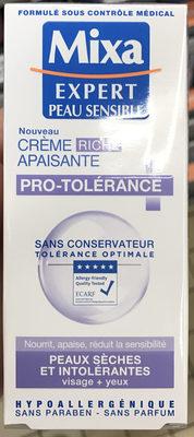 Crème riche apaisante pro-tolérance - Produit