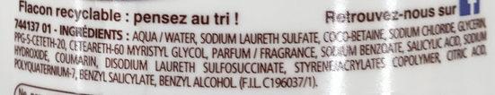 Douche Crème Douceurs Glacées au parfum de la Noisette - Ingredients - fr