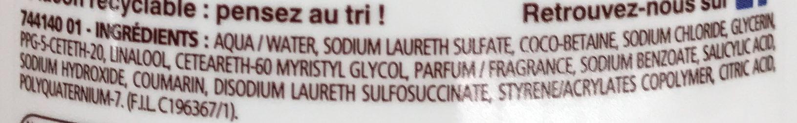 Douche crème Douceurs Glacées au parfum de la Pistache - Ingrédients