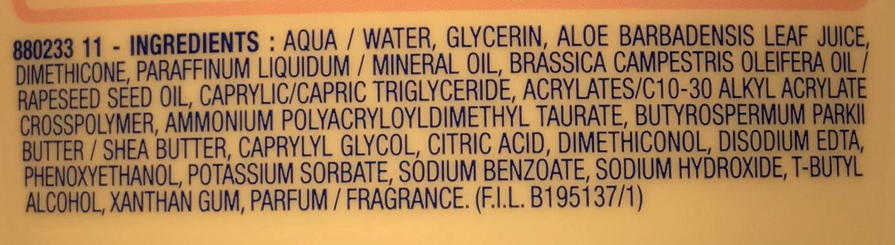 Lait corps hydra-apaisant Soif d'aloé - Ingredients - fr