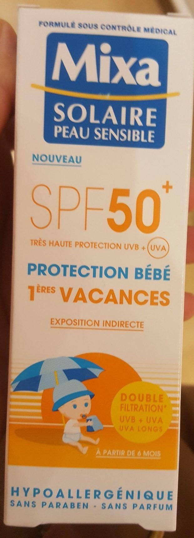 Lait Solaire Protection Bebe 1ères Vacances Spf50+ - Product - fr
