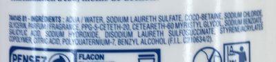 Douche crème Douceurs d'Enfance au parfum Haribo Chamallows - Ingredients