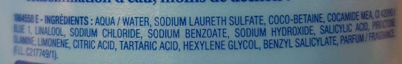 Le Shampooing Très Doux Antipelliculaire - Ingrédients