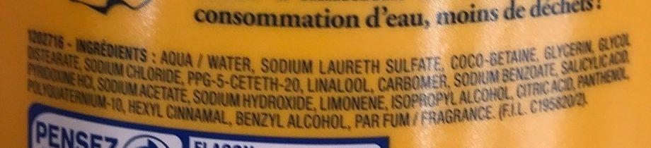 Le Shampooing très doux aux vitamines - Ingredients - fr