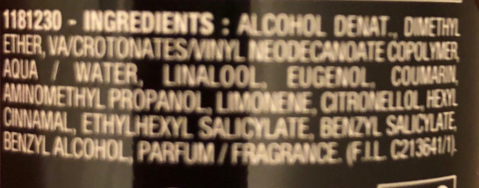 Eclat laque - Ingredients - fr