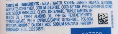 mixa intensif peaux sèche - Ingredients - en