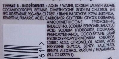 Shampooing nutri-réparateur réparation gelée royale - Ingredients