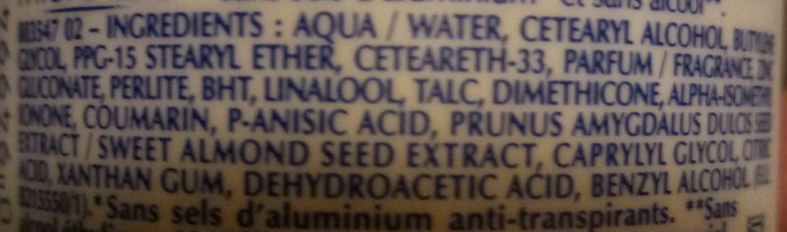 Déodorant micro-talc - Ingredients