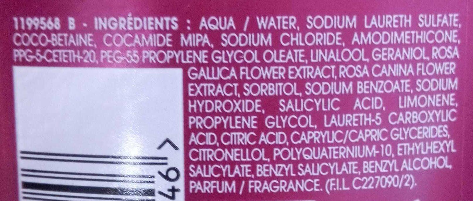 Shampooing couleur répateur - Ingredients