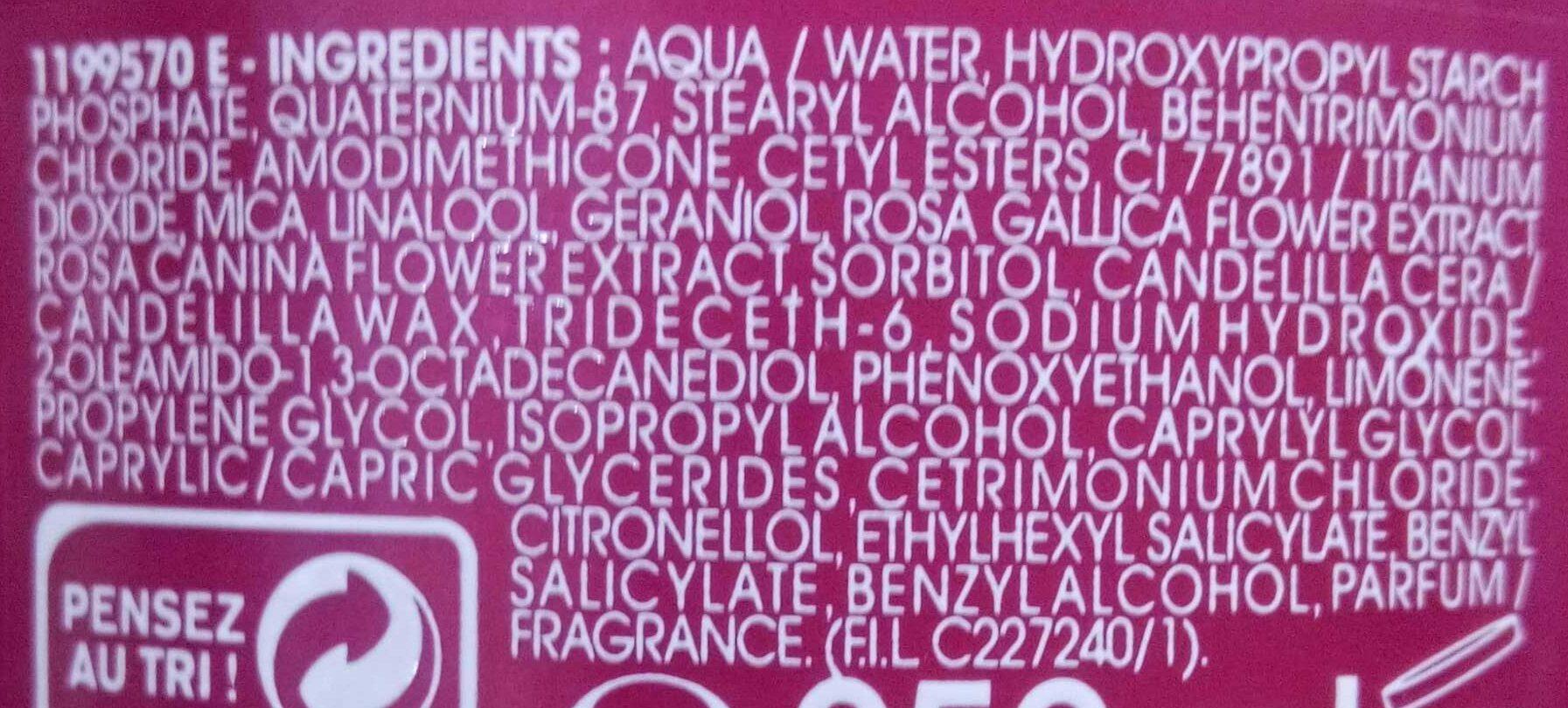 Réveil'Color Rose Précieuse - Ingrédients