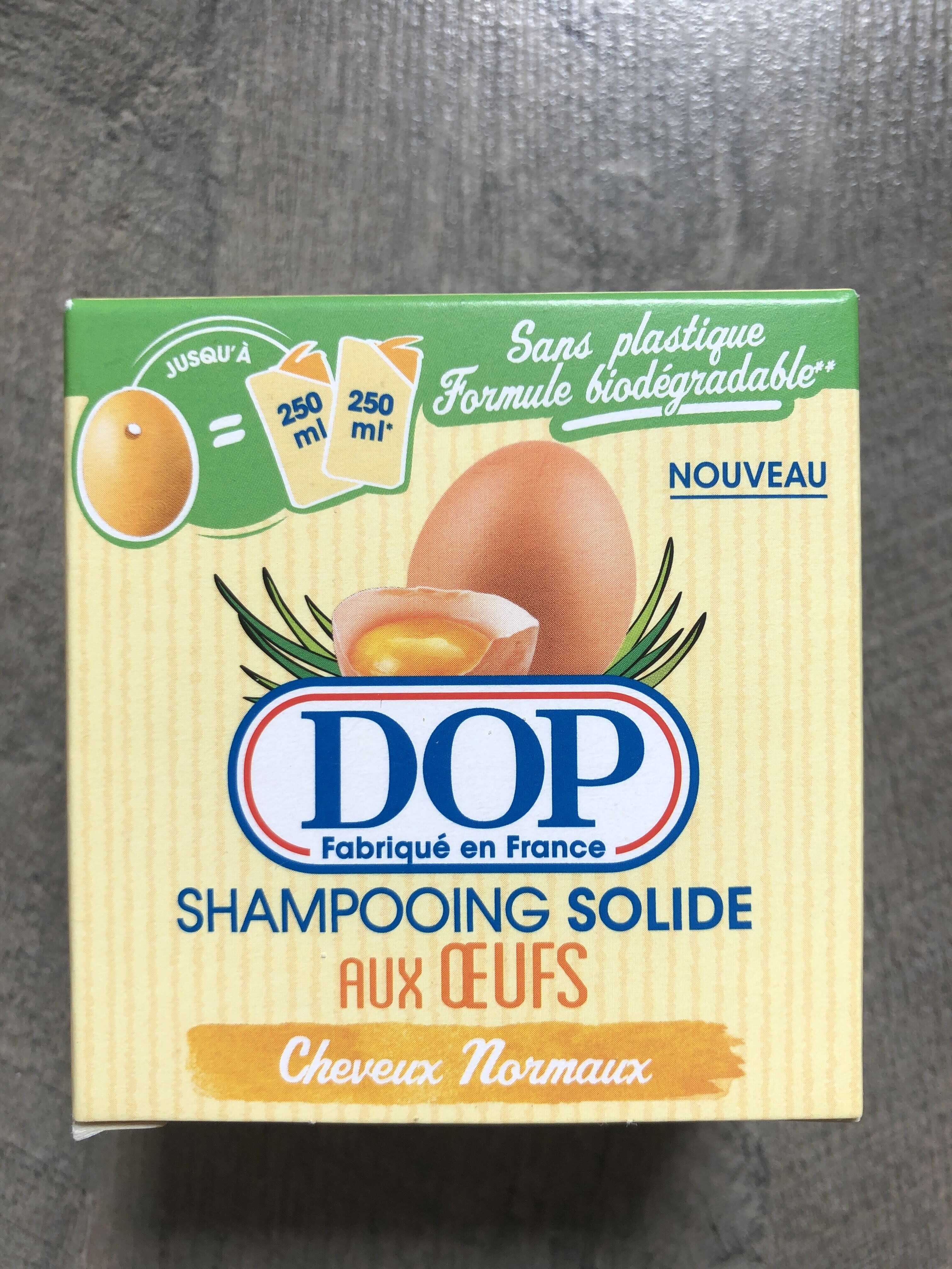 Shampooing solide aux oeufs cheveux normaux - Product - en