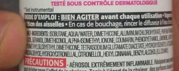 5 protections efficacité intégrale 48h - Ingredients - fr