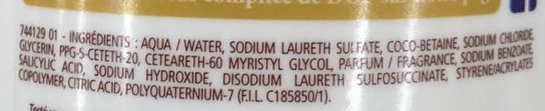 Douche Crème Douceurs du Matin au parfum de la Brioche au Sucre - Ingredients
