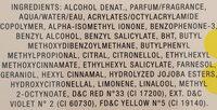 Daisy Eau detoilette spray - Ingredients