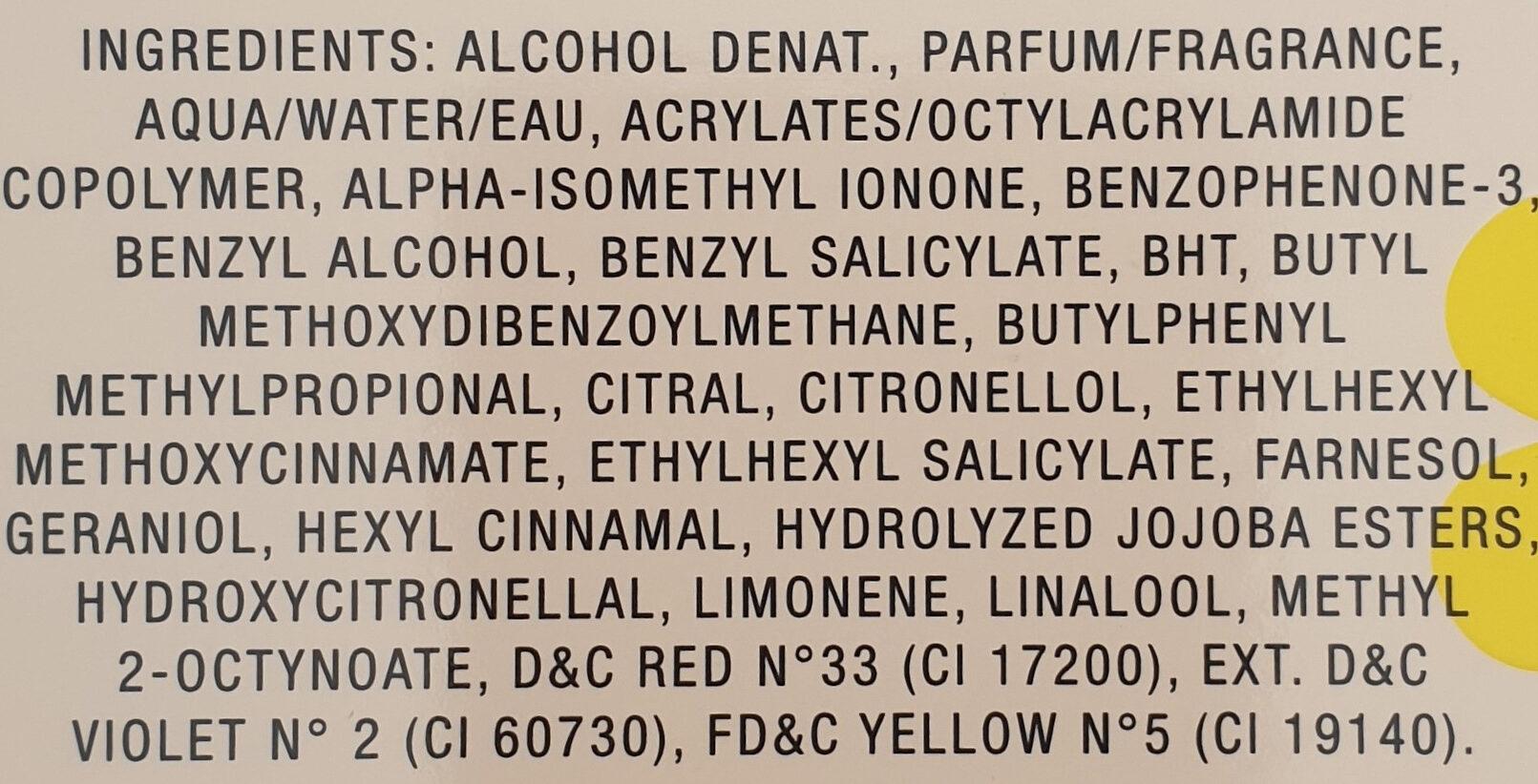 Daisy Eau detoilette spray - Ingredients - de