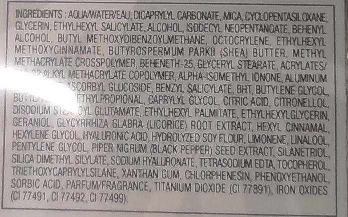 BB cream radiance 9 en 1 SPF 20 - 001 claire - Ingredients