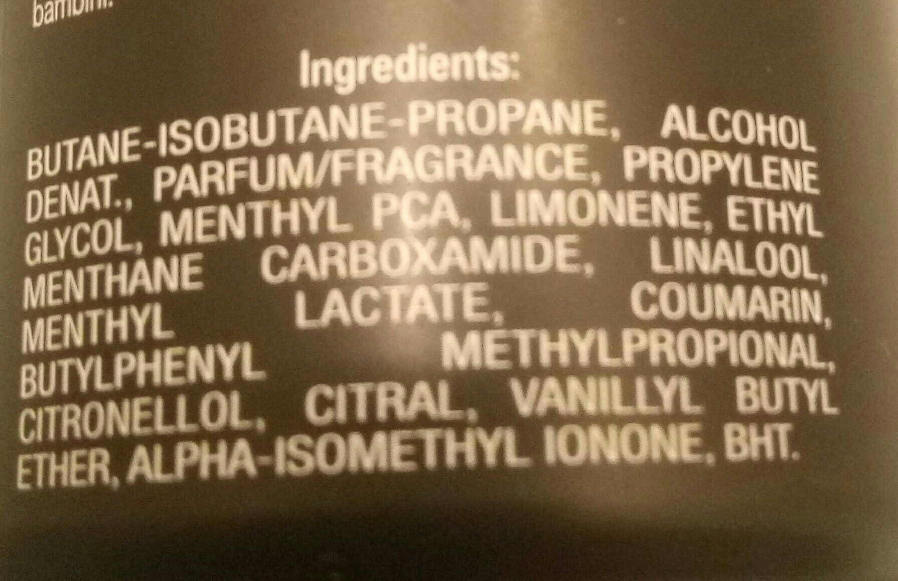 Déodorant pure game - Ingredients - fr