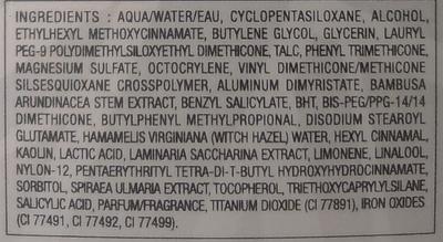 BB Cream matte - 001 claire - Ingrédients