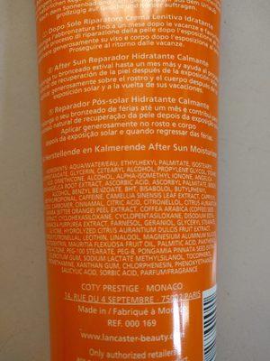 Lancaster Tan Maximizer - Ingredients