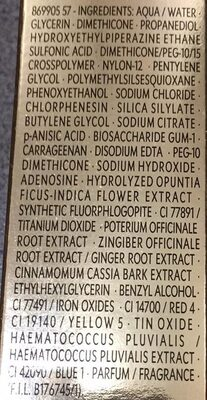 Top Secrets - Hydratant éclat instantané - Ingredients