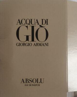 Acqua di Giò - Absolu - Produit - it