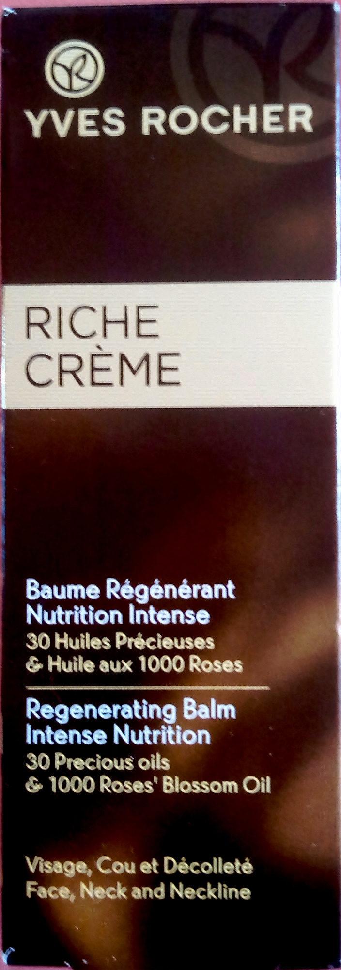 Riche Crème Baume Régénérant Nutrition Intense - Product
