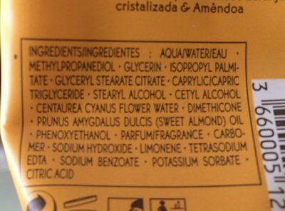 Yves Rocher Candied Orange & Almond Hand Cream - Ingredients