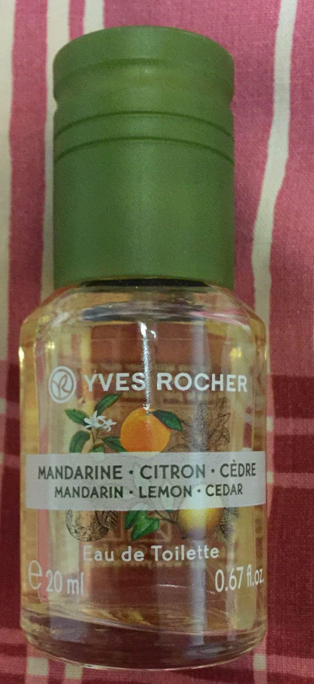 Eau de toilette mandarine citron cèdre - Produit - fr