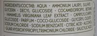 Нежный шампунь с гамамелисом - Ingredients