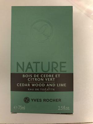 Nature Bois de cèdre et Citron vert - Product