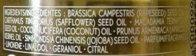 Huile végétale énergisante mandarine citron cèdre - Ingredients - fr