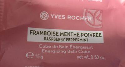 Cube de Bain énergisant Framboise Menthe poivrée - Product - fr