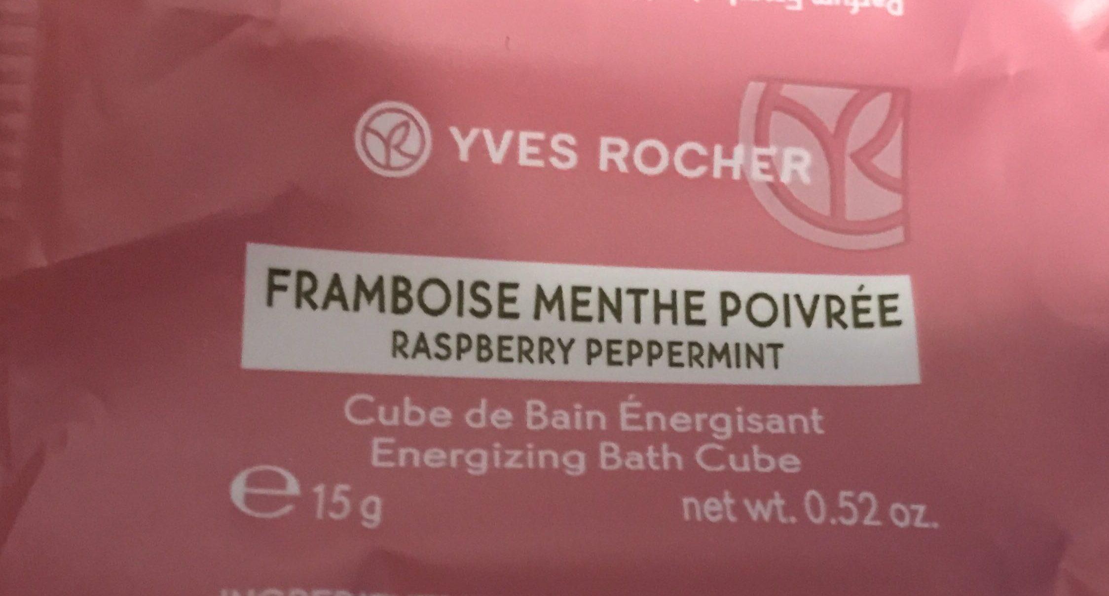 Cube de Bain énergisant Framboise Menthe poivrée - Product